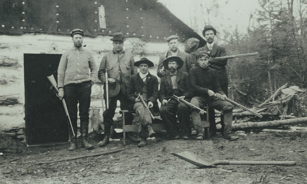 Hunting-Party-at-a-Logging-Camp